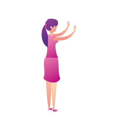 businesswoman worker avatar character vector illustration design
