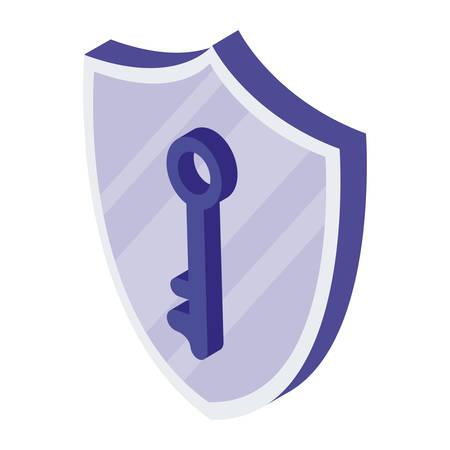 security shield with key vector illustration design Illustration