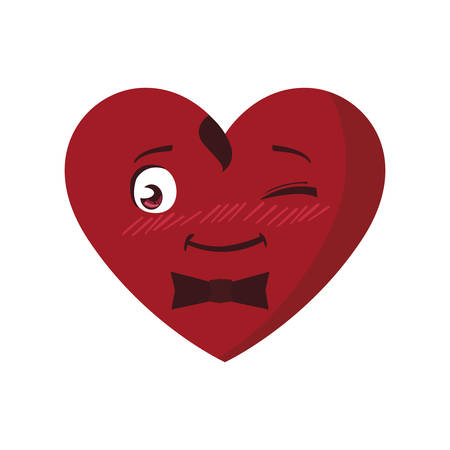 heart male character vector illustration design