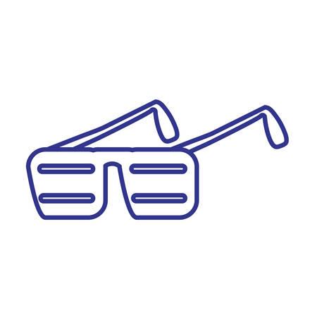 party glasses of eighties retro vector illustration design