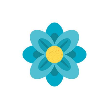 beautiful flower nature isolated icon vector illustration design