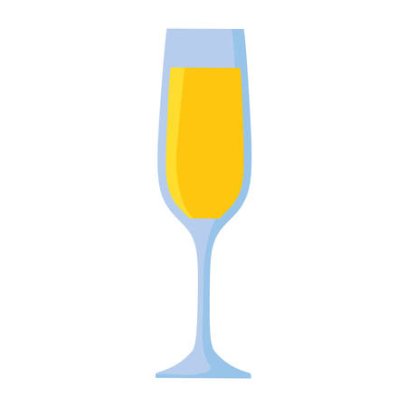 champagne cup isolated icon vector illustration design Ilustração