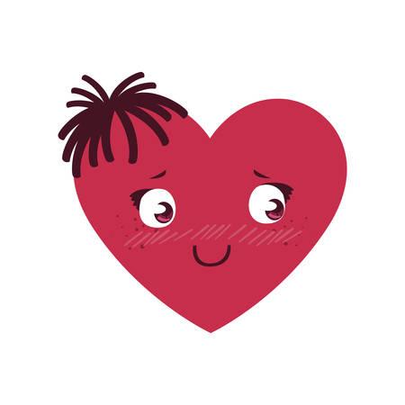 female heart character vector illustration design Imagens - 122749638