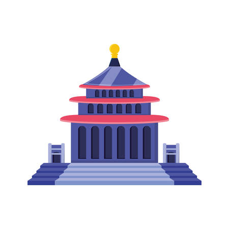 traditional architecture of china isolated icon vector illustration design