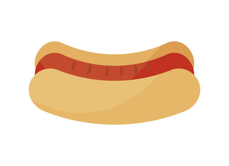 hot dog fast food isolated icon vector illustration design