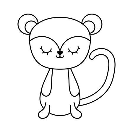cute monkey animal isolated icon vector illustration design Vectores