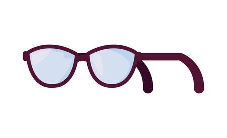 eyeglasses optical accessory classic on white background vector illustration
