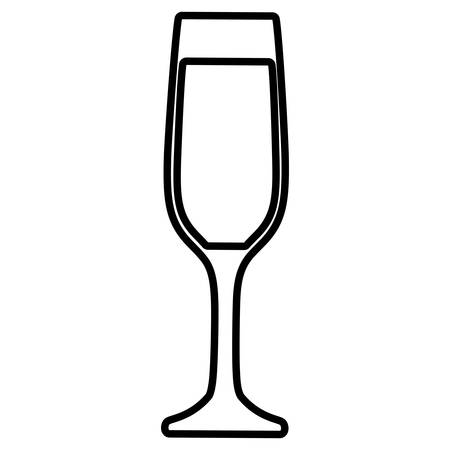 champagne cup isolated icon vector illustration design Imagens - 122809188