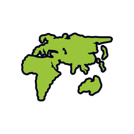europe and african continents maps vector illustration design