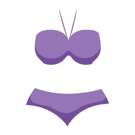 sensual female swimsuit icon vector illustration design 向量圖像