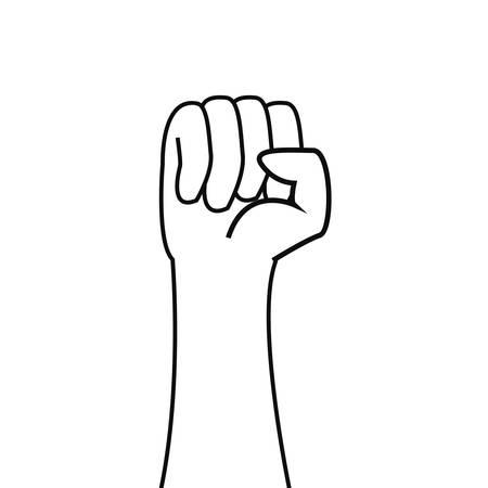 angehobene Hand Tag der Arbeit Vektor-Illustration-Design Vektorgrafik