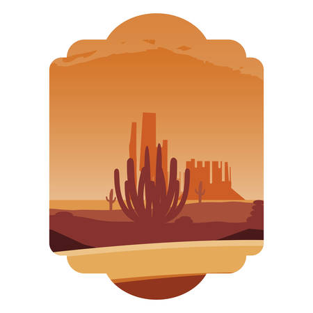 beautiful desert landscape scene vector illustration design Ilustrace