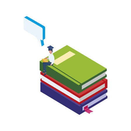 text book with people workers vector illustration design