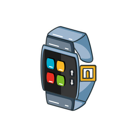 smartwatch device isolated icon vector illustration design