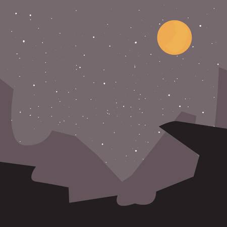 space planet satellite stars sky vector illustration Stock Illustratie