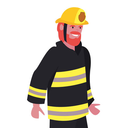 fireman profession labour day vector illustration design