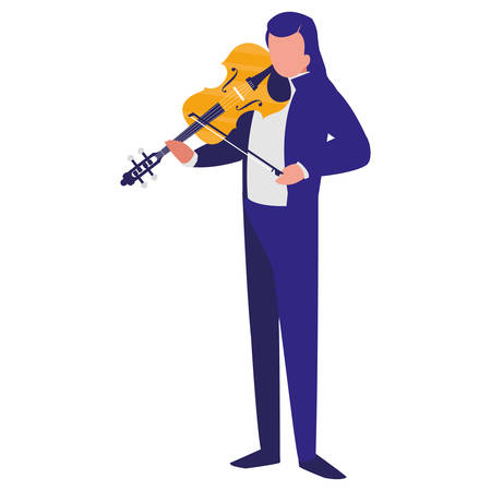 violinist playing fiddler character vector illustration design Reklamní fotografie - 123043790