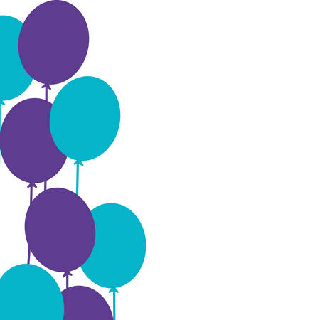 set of balloons helium isolated icon vector illustration design Banque d'images - 123080040