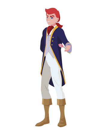 prince charming of tales character vector illustration design