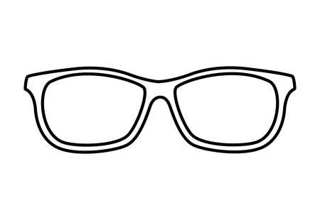 eyeglasses accessory isolated icon vector illustration design Illusztráció
