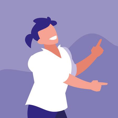 man dancing avatar character vector illustration design