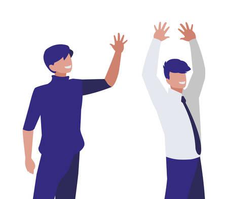 couple of businessmen avatars characters vector illustration design Vector Illustratie