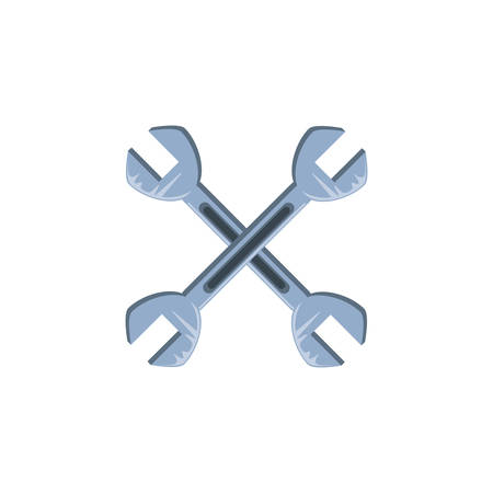 wrenches tools crossed isolated icon vector illustration design