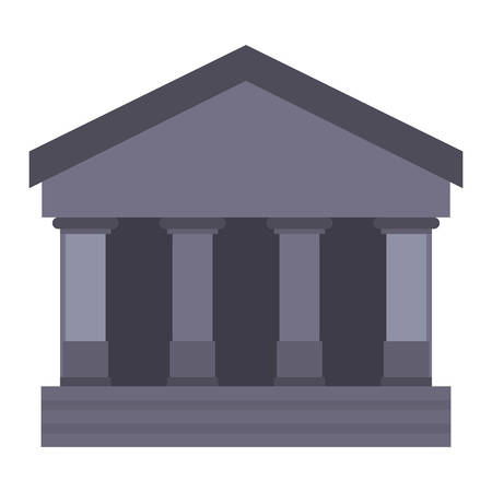 bank building icon on white background vector illustration