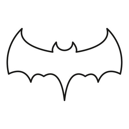 bat icon over white background, vector illustration