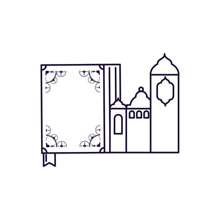koran book with mosque castle ramadan kareem vector illustration design Imagens - 123834341