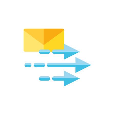 envelope mail with arrows send vector illustration design Illustration