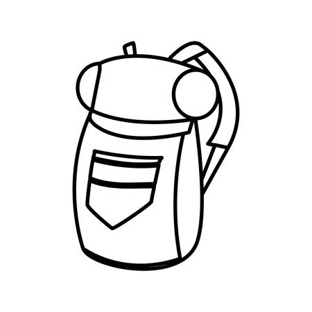 adventurous travel bag icon vector illustration design 向量圖像