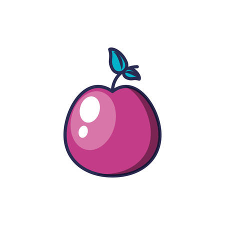 fresh apple fruit isolated icon vector illustration design