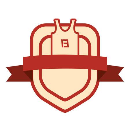 basketball sport jersey emblem background vector illustration Ilustração