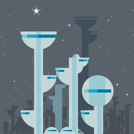 future building architecture city space vector illustration design Illustration