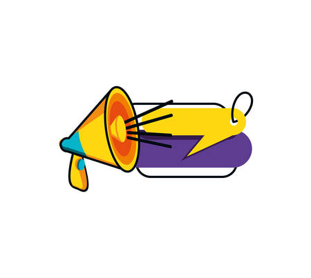megaphone sound with tag commercial vector illustration design