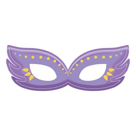 carnival mask decorative icon vector illustration design