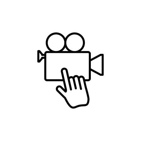 video camera app with cursor vector illustration design