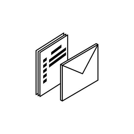 envelope mail data icon vector illustration design