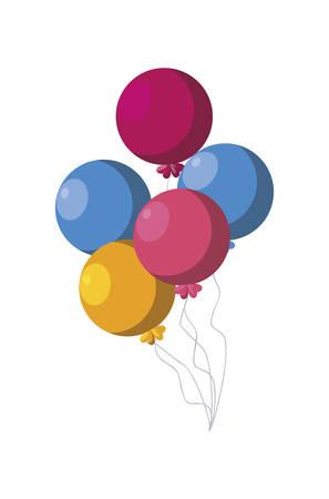 balloons helium party celebration vector illustration design Иллюстрация