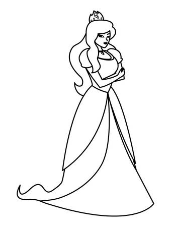 beautiful princess of tales character vector illustration design Illustration