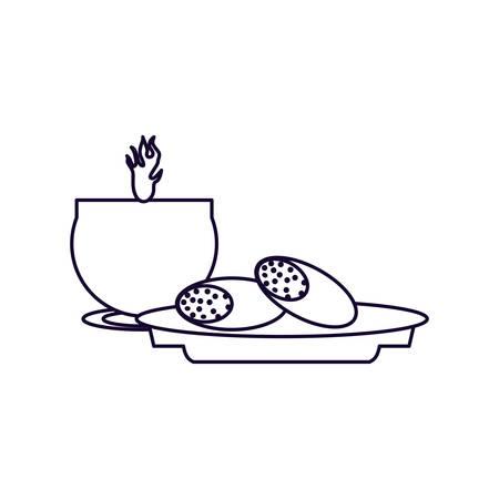 ramadan kareeem bread food and candle vector illustration design