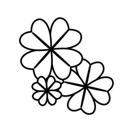 clovers leafs saint patricks day vector illustration design