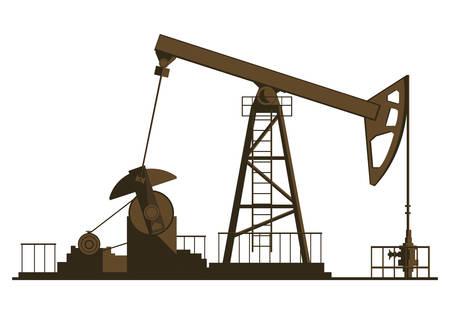 oil industry excavation plant vector illustration design