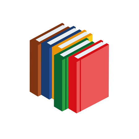 pile text books isolated icons vector illustration design