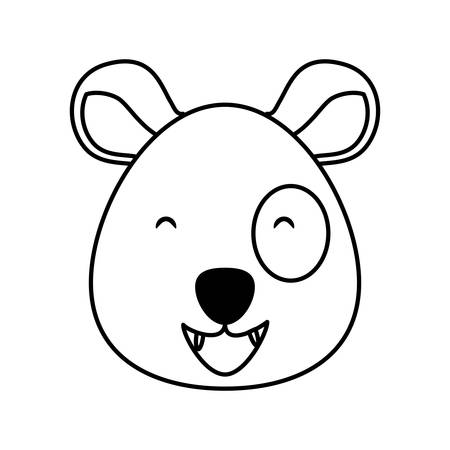 head of bear panda wildlife animal icon vector illustration design