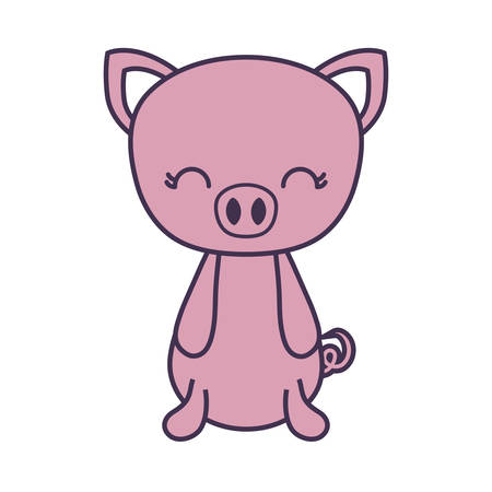 cute piggy animal isolated icon vector illustration design