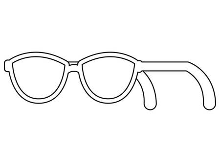 eyeglasses optical accessory classic on white background vector illustration