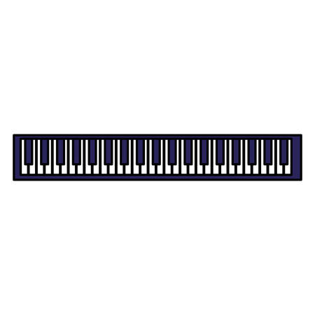 piano keyboard isolated icon vector illustration design Illustration
