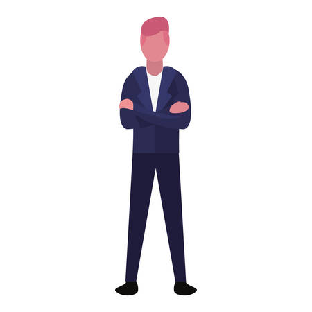 man character person on white background vector illustration